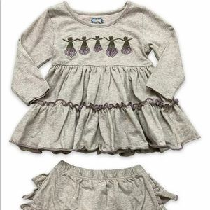 NWT Mustard Pie's Little Prim 12m outfit